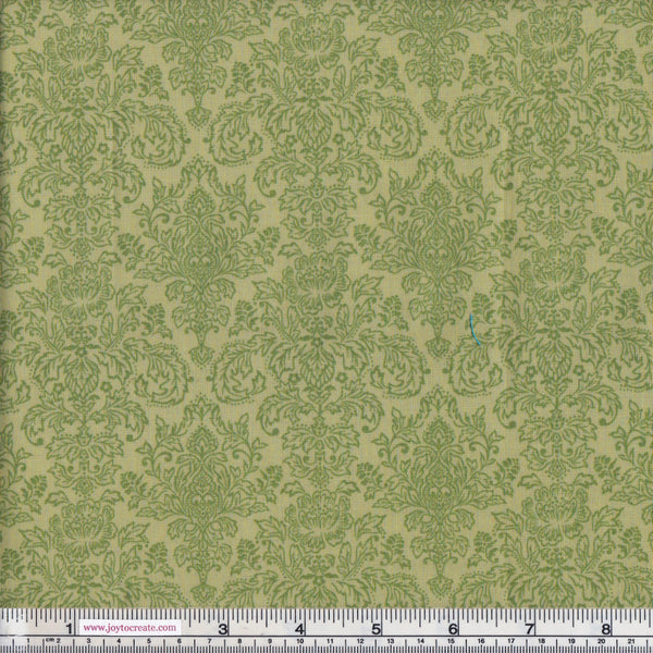 Makower Vintage Journal 1579/G Damask Sage Green