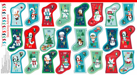 CHRISTMAS Makower 2016 Frosty 1587/1 Mini Stocking Advent