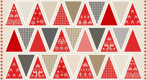 CHRISTMAS Makower Scandi 3 1596/1 Bunting