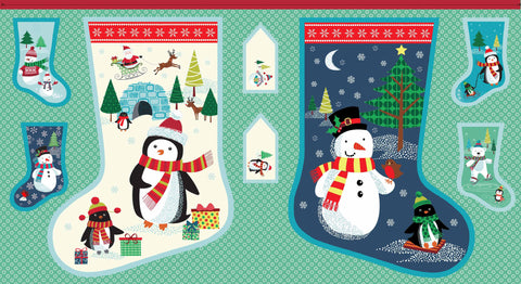 CHRISTMAS Frosty 1618/1 Big Stocking Panel