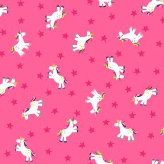 Makower Fantasy Pink Unicorns 1817/P