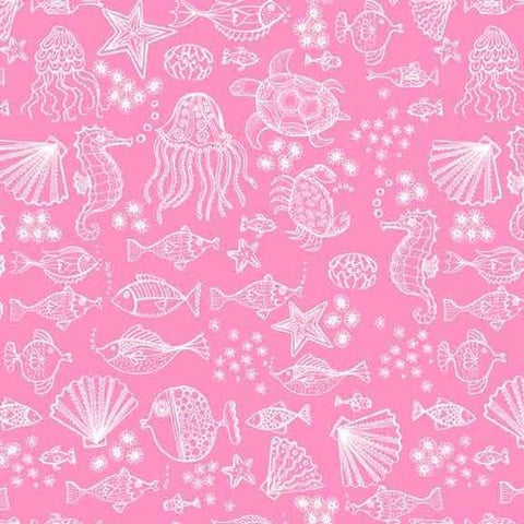 Makower Pink Sealife 2006/P