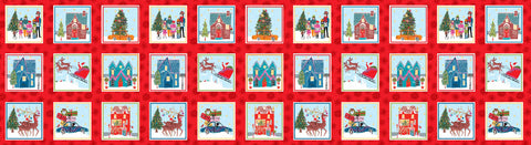 CHRISTMAS Makower Wonderland 14601 Labels