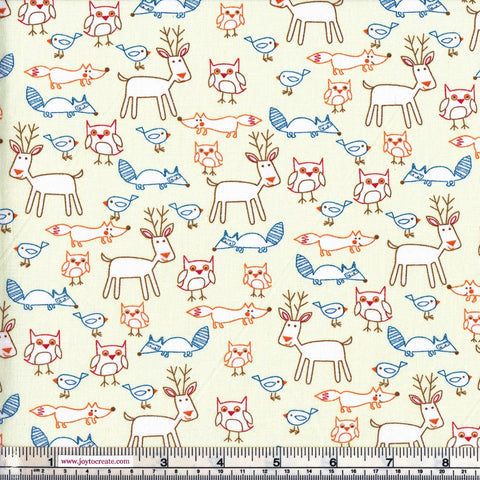 Sew Simple New Kids On The Block SSF47857 Forest Animals