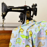 Sew Simple New Kids On The Block SSF47861 Blue Check Zoo