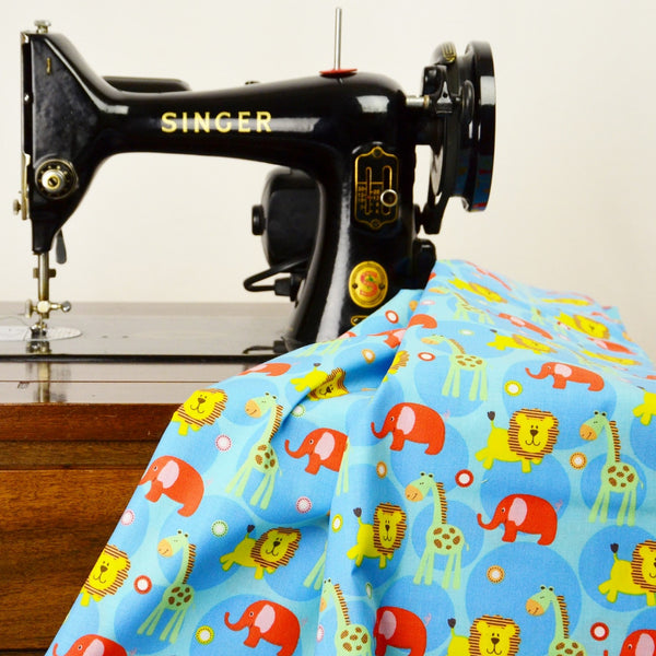 Sew Simple New Kids On The Block SSF47863 Blue Multi Zoo
