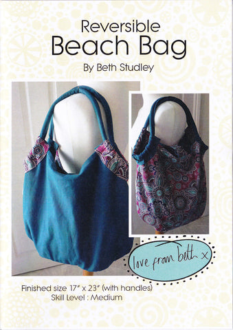 Beth Studley Reversible Beach Bag Pattern