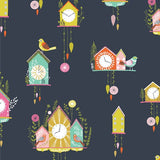 Dashwood Studio Cuckoo's Calling CUKO1081 Navy Clocks