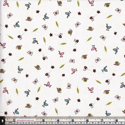 Clothworks Guess How Much I love You CWF1770-1 Bees And Birds