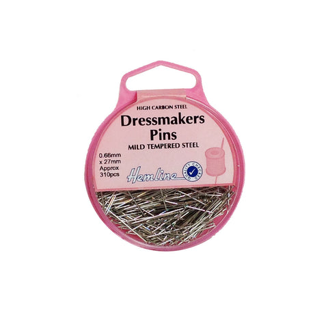 Hemline Dressmakers Pins 0.66mm x 27mm H700