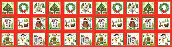 CHRISTMAS Makower Novelty 1257/1 Festive Labels