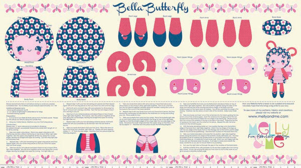 Riley Blake Melly & Me Flutterberry RBP4592Navy Bella Butterfly
