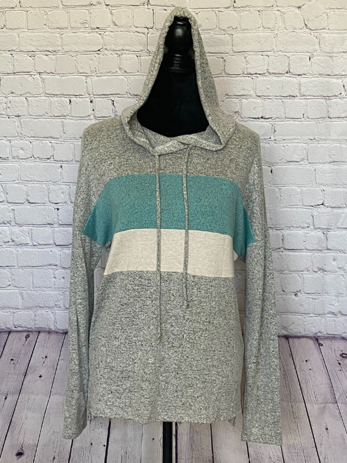 Good Times Hoodie (Heather Grey/Mint)