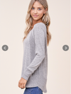Everyday Raglan Top (Heather Grey)