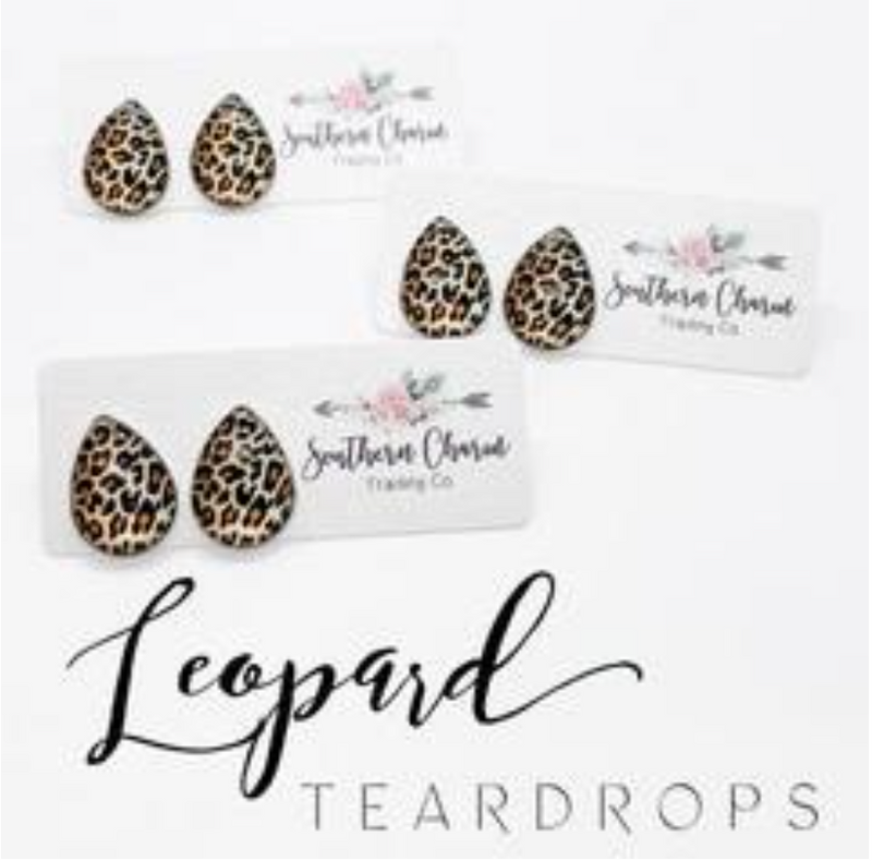 Big as Texas Golden Leopard Teardrops