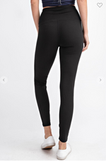 Fair Play Laser Cut Leggings (Black)