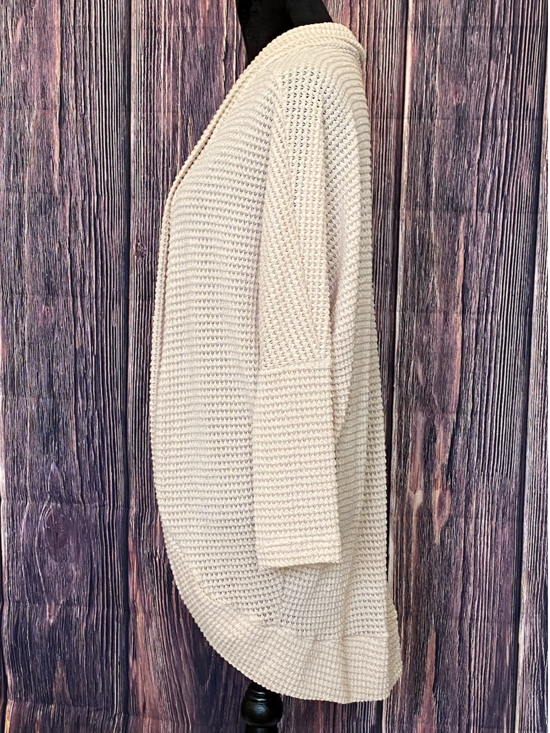Sure to Love Waffle Cardigan (Cream or Mocha)