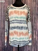 Too Much Fun Tie Dye Striped Top