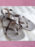 Cairo Sandals (Silver)
