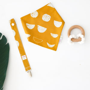 Designer Cotton Bibs + Clips