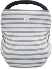 Grey stripe infant car seat / nursing cover
