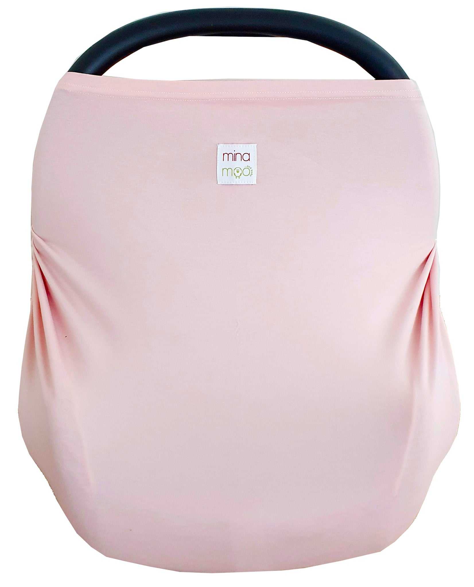 Blush fitted infant car seat cover