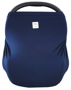 Navy fitted infant car seat cover