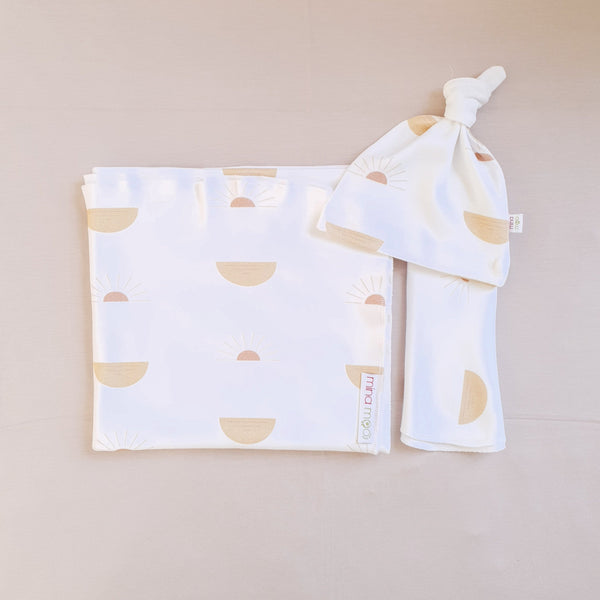 Rising Sun cotton swaddle set