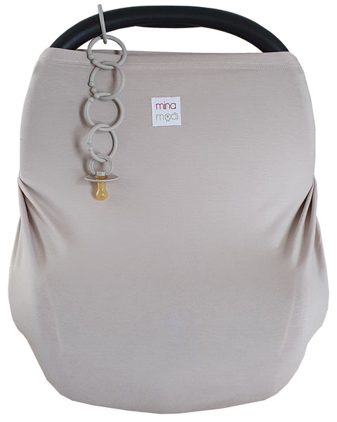 Stone fitted infant car seat cover