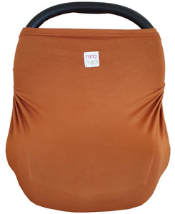 Rust fitted infant car seat cover