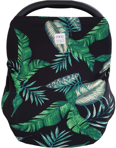 Tropical fitted infant car seat / nursing cover