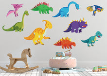 Load image into Gallery viewer, Dinosaur Wall Decals for Baby Nursery Decor
