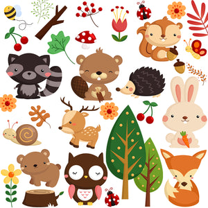 Woodland Animal Wall Stickers Pack for Baby Nursery