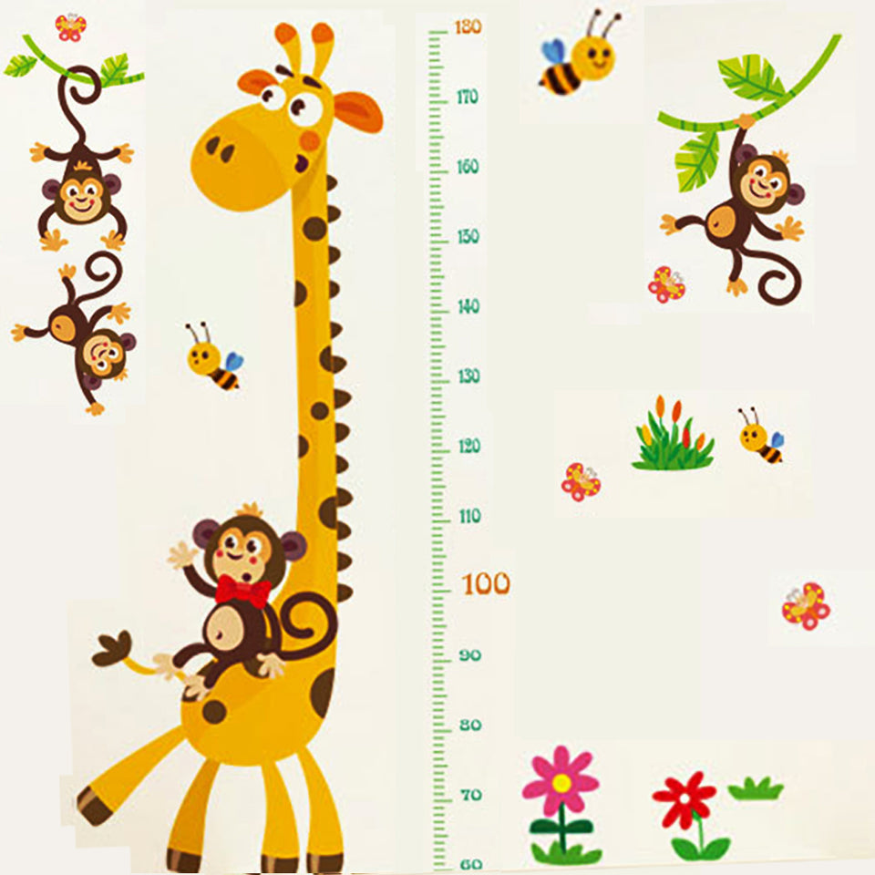Kids Height Wall Chart | Peel & Stick Height Scale Wall Decals for Baby Nursery, Toddler Playroom