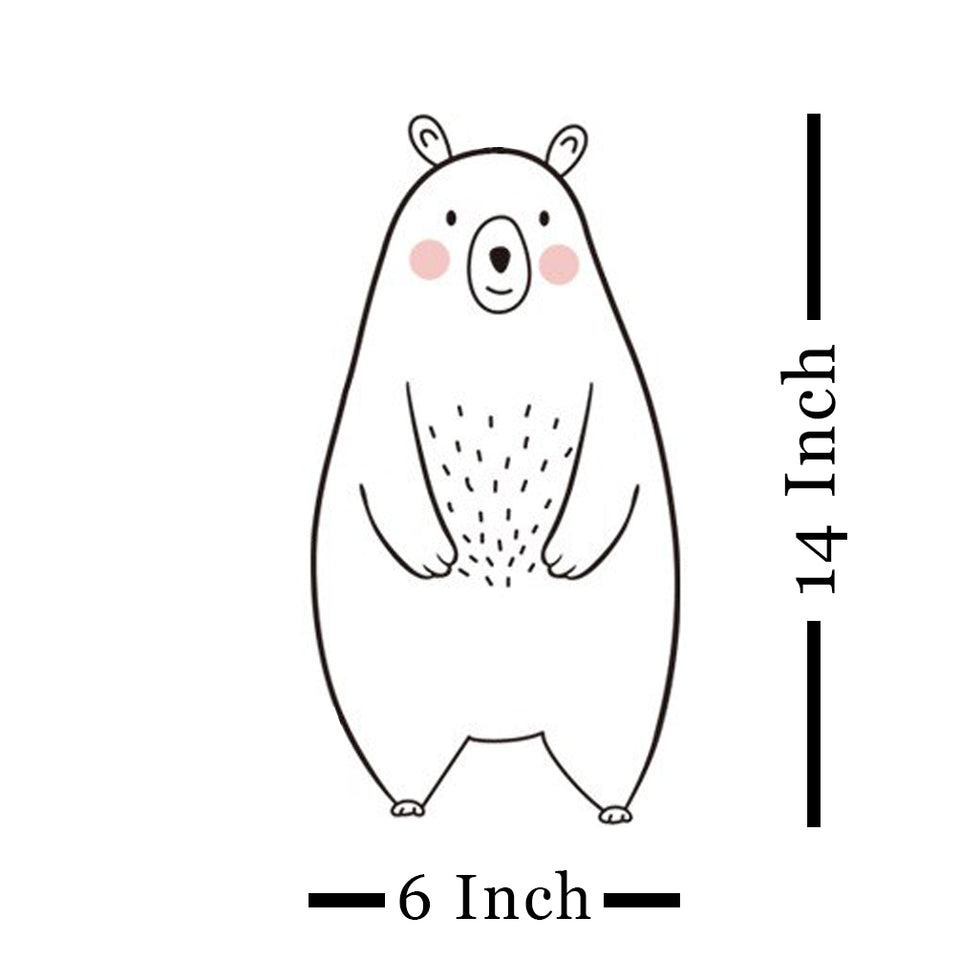 Large Size Bear & Other Animal Wall Stickers for Baby Nursery