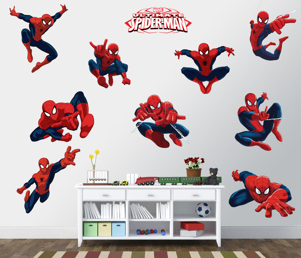 Spiderman Stickers in Room