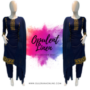 WINTER Linen Pakistani Readymade NYJ2098 NAVY