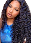U PART MONGOLIAN WATER WAVE WIG
