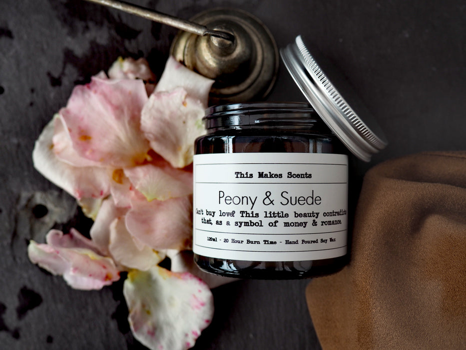 Peony & Suede Soy Wax Candle