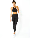 Sports Bra & Leggings - Black