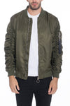 Flight Lined Bomber Jacket - Olive