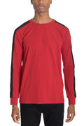 SIDE STRIPE LONG SLEEVE- RED/ BLACK