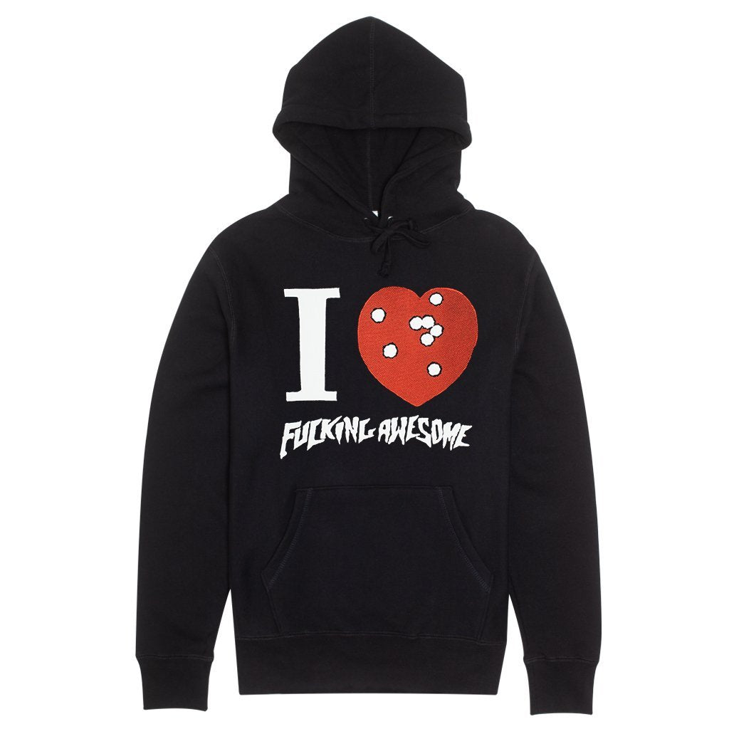 Fucking Awesome I Heart Fa Hoodie Product Photo #1