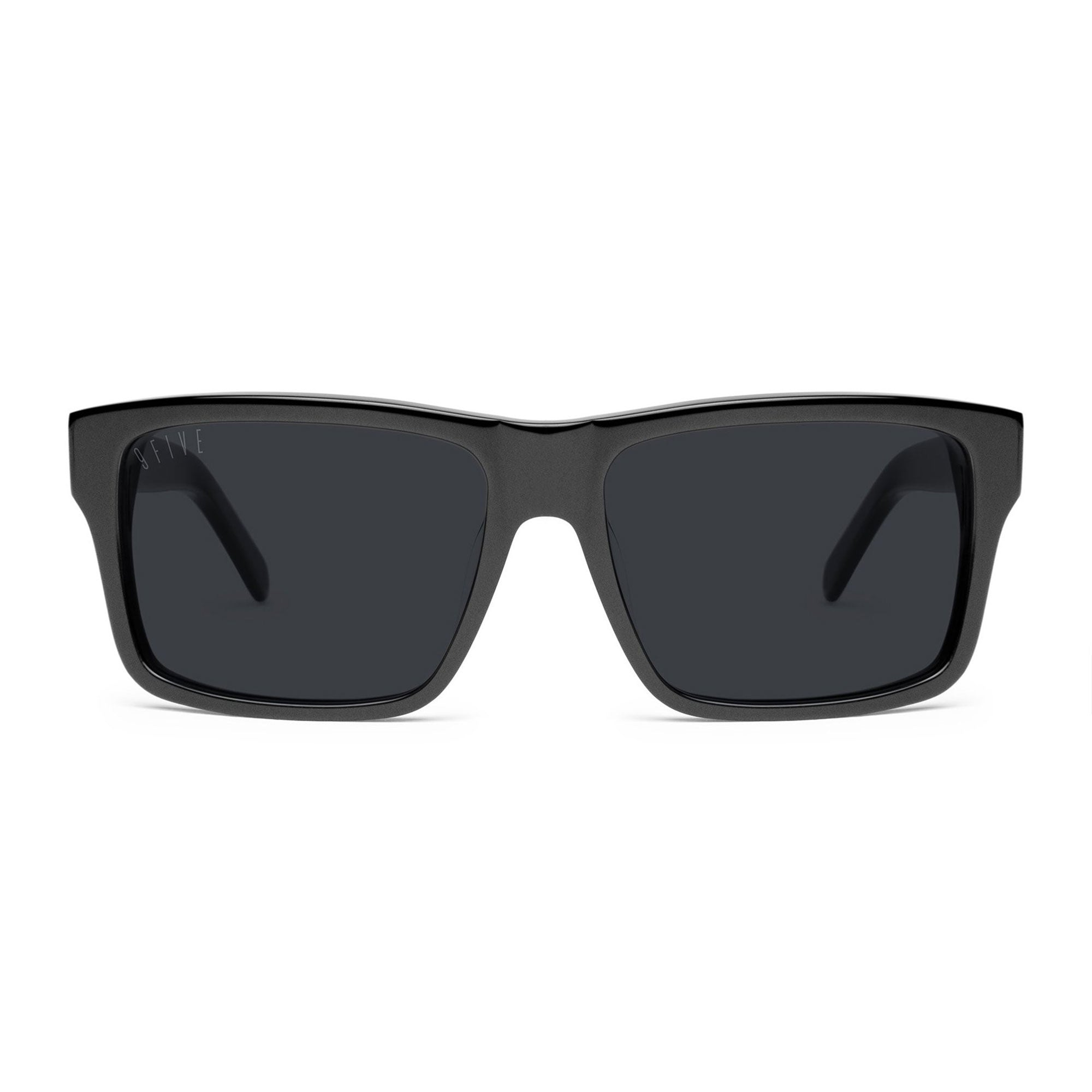 9 Five Caps Sunglasses - Matte Black Product Photo #2