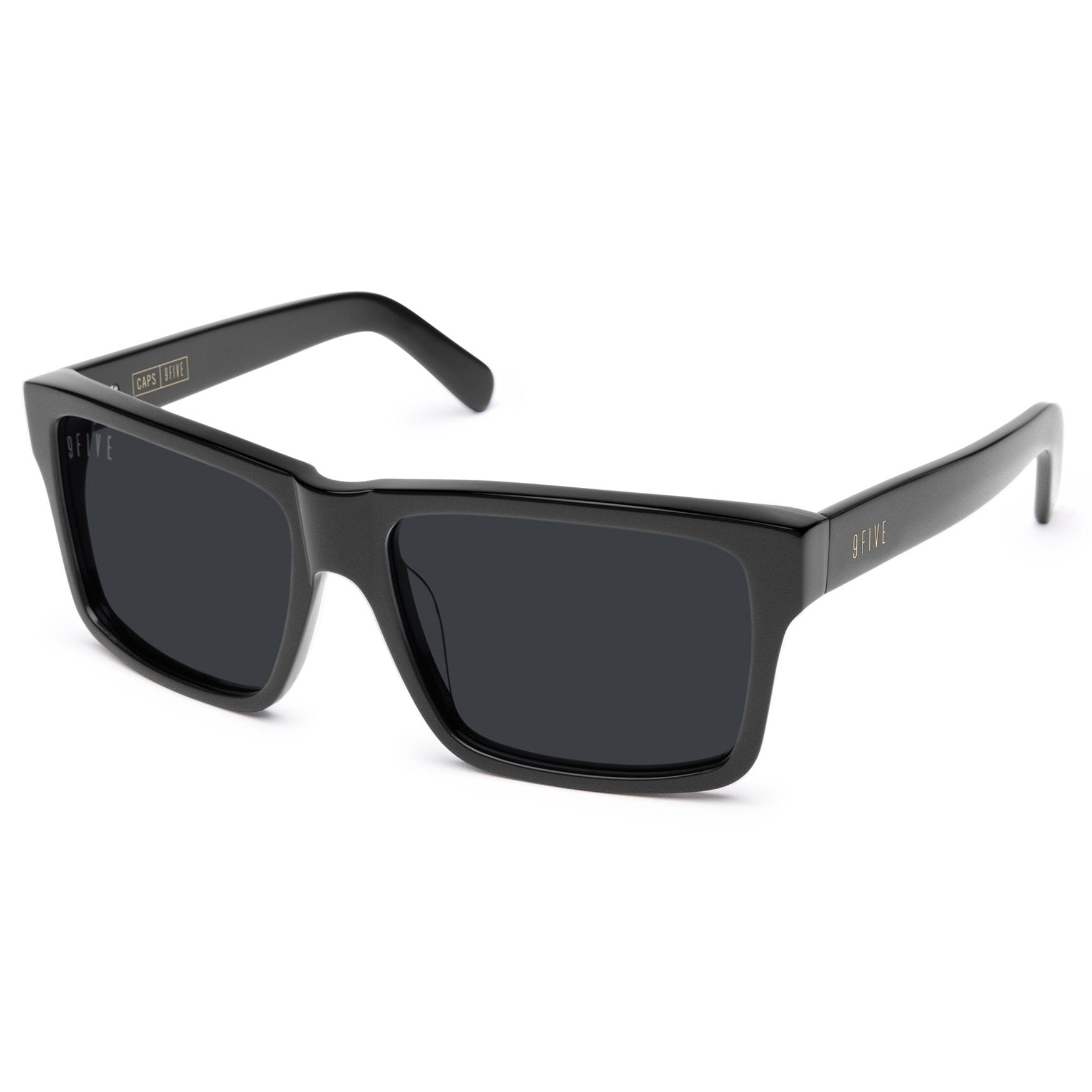 9 Five Caps Sunglasses - Matte Black Product Photo #1