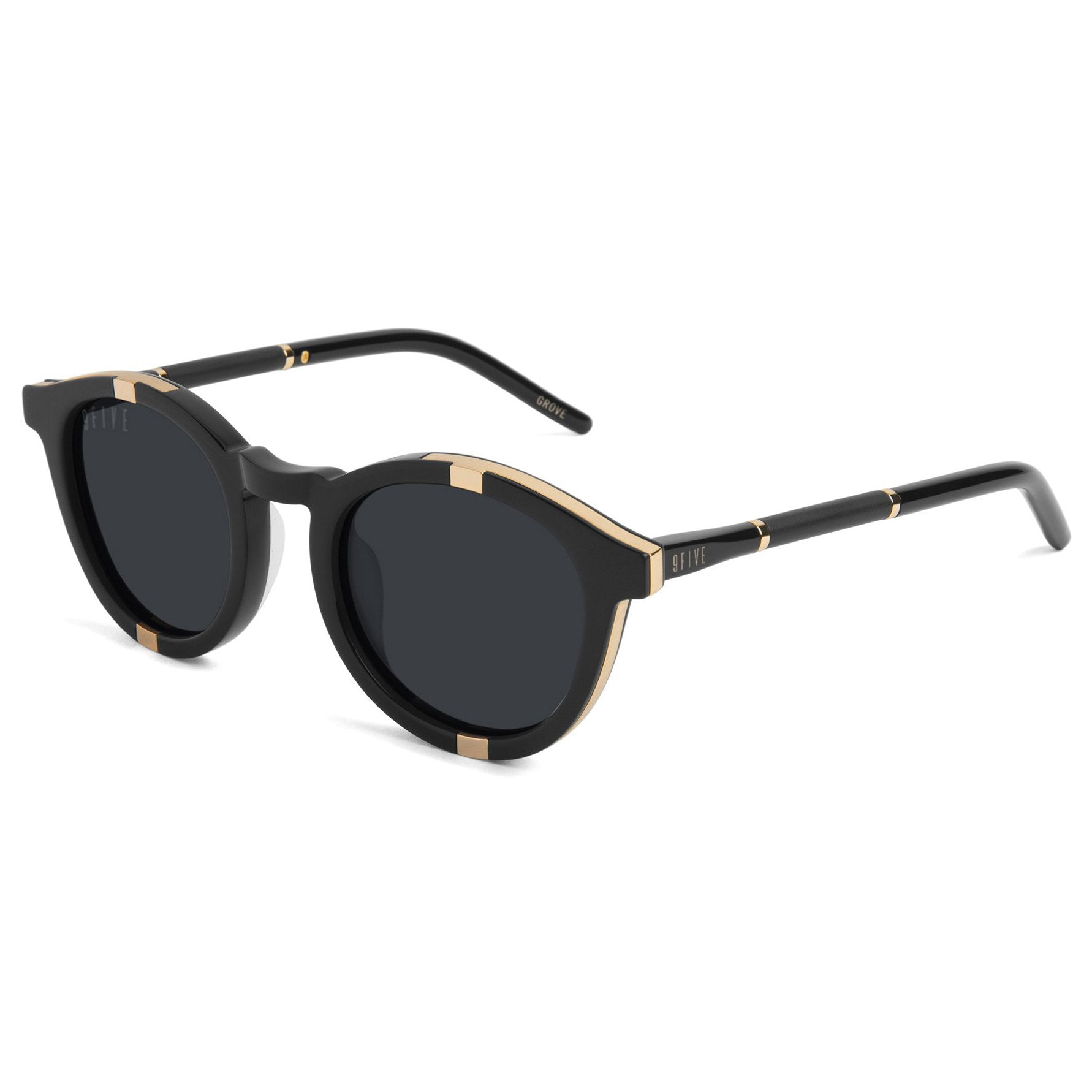 9 Five Grove Sunglasses - Black/Gold Product Photo #1