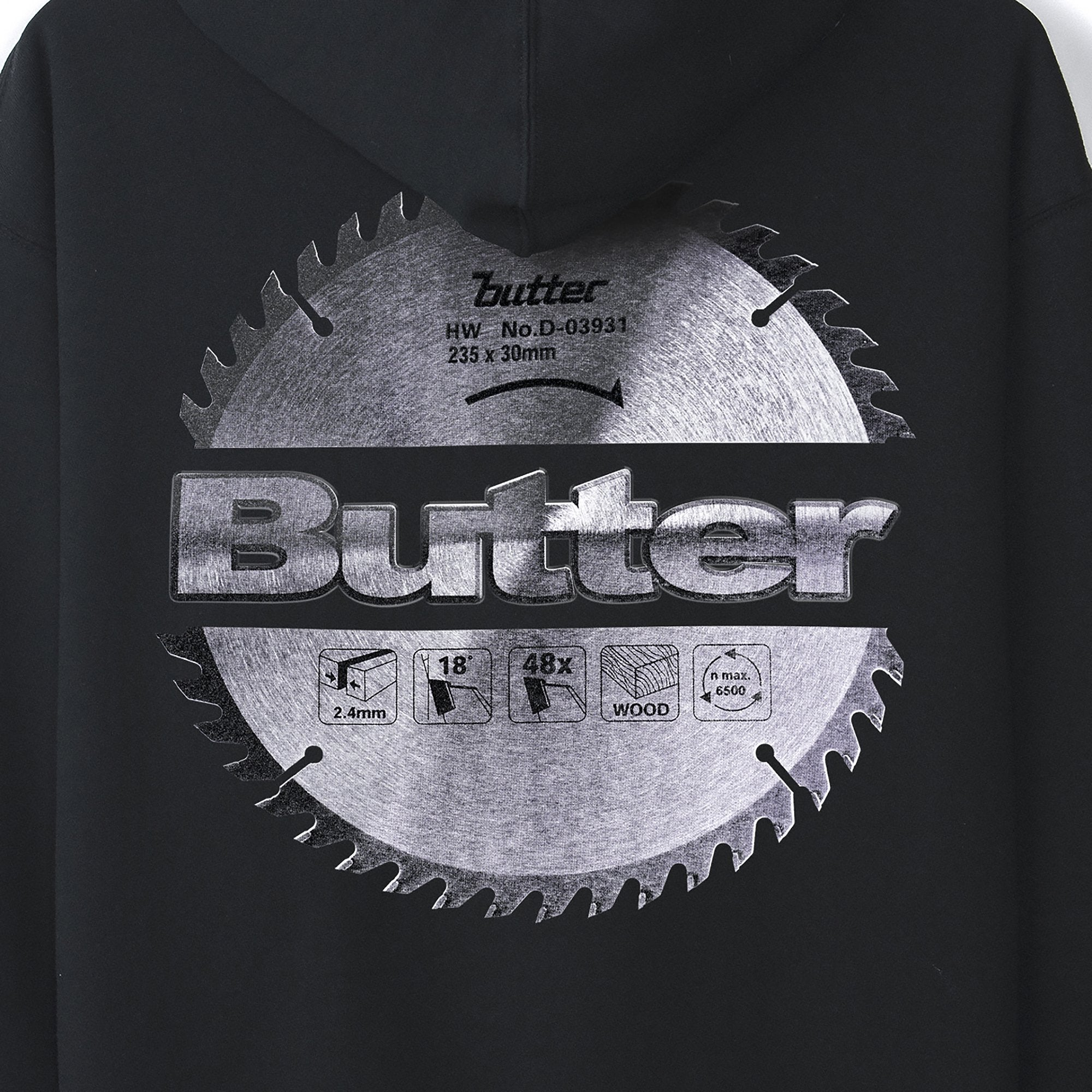 Butter Goods Blade Logo Hoodie Product Photo #4