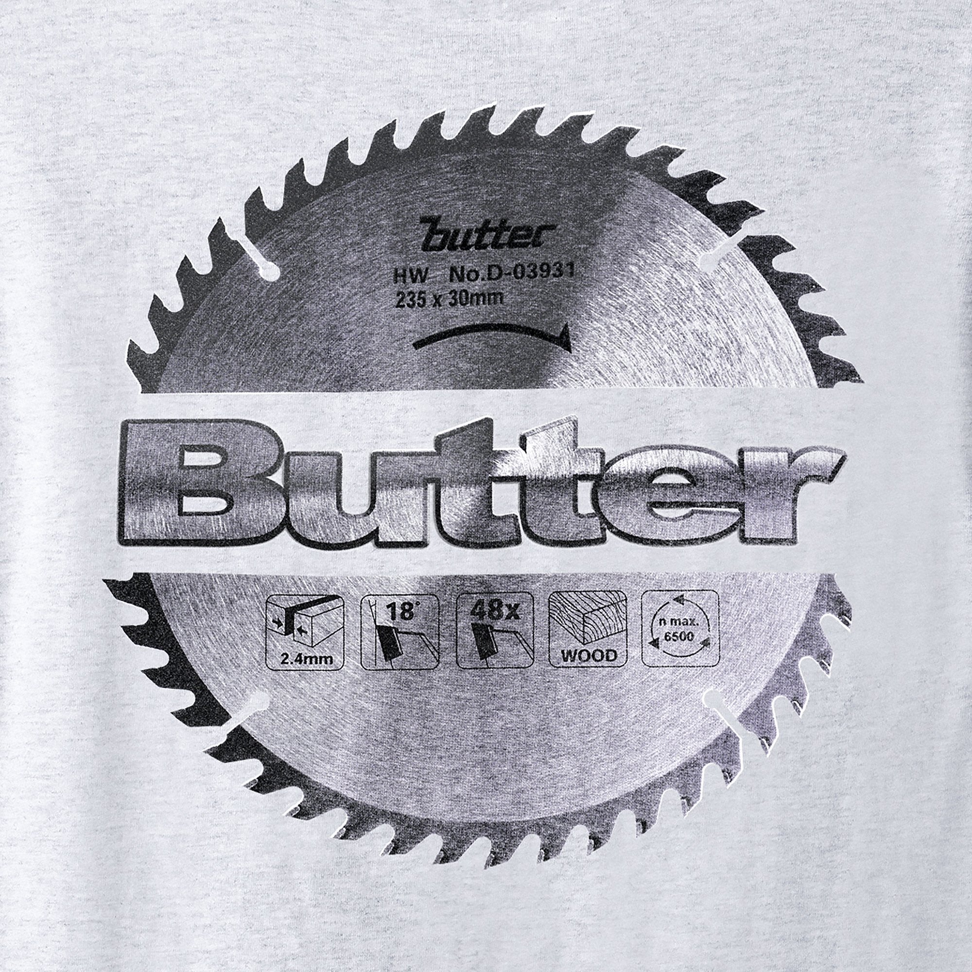Butter Goods Blade Logo Tee Product Photo #4