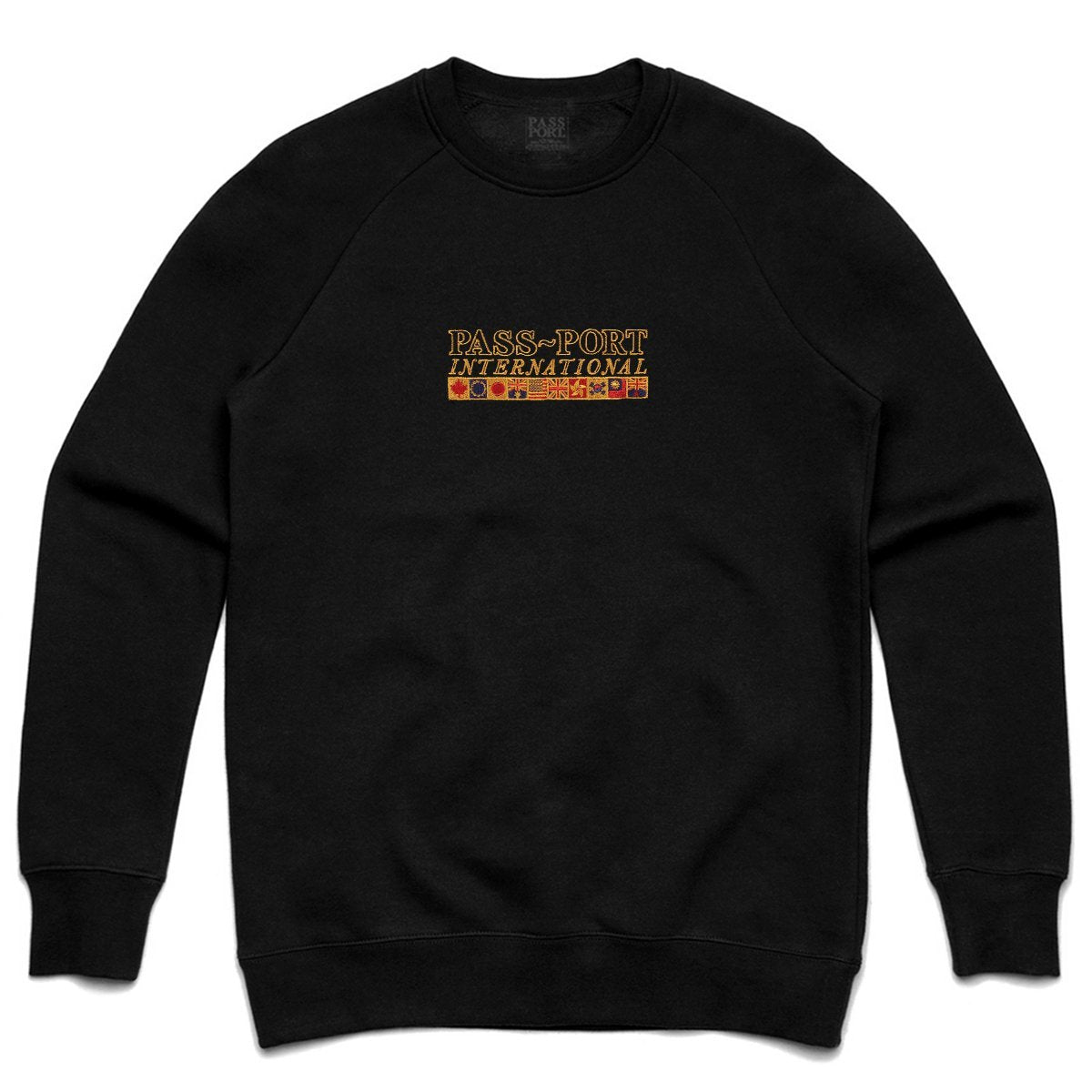 PASSPORT INTERNATIONAL EMBROIDERY CREWNECK