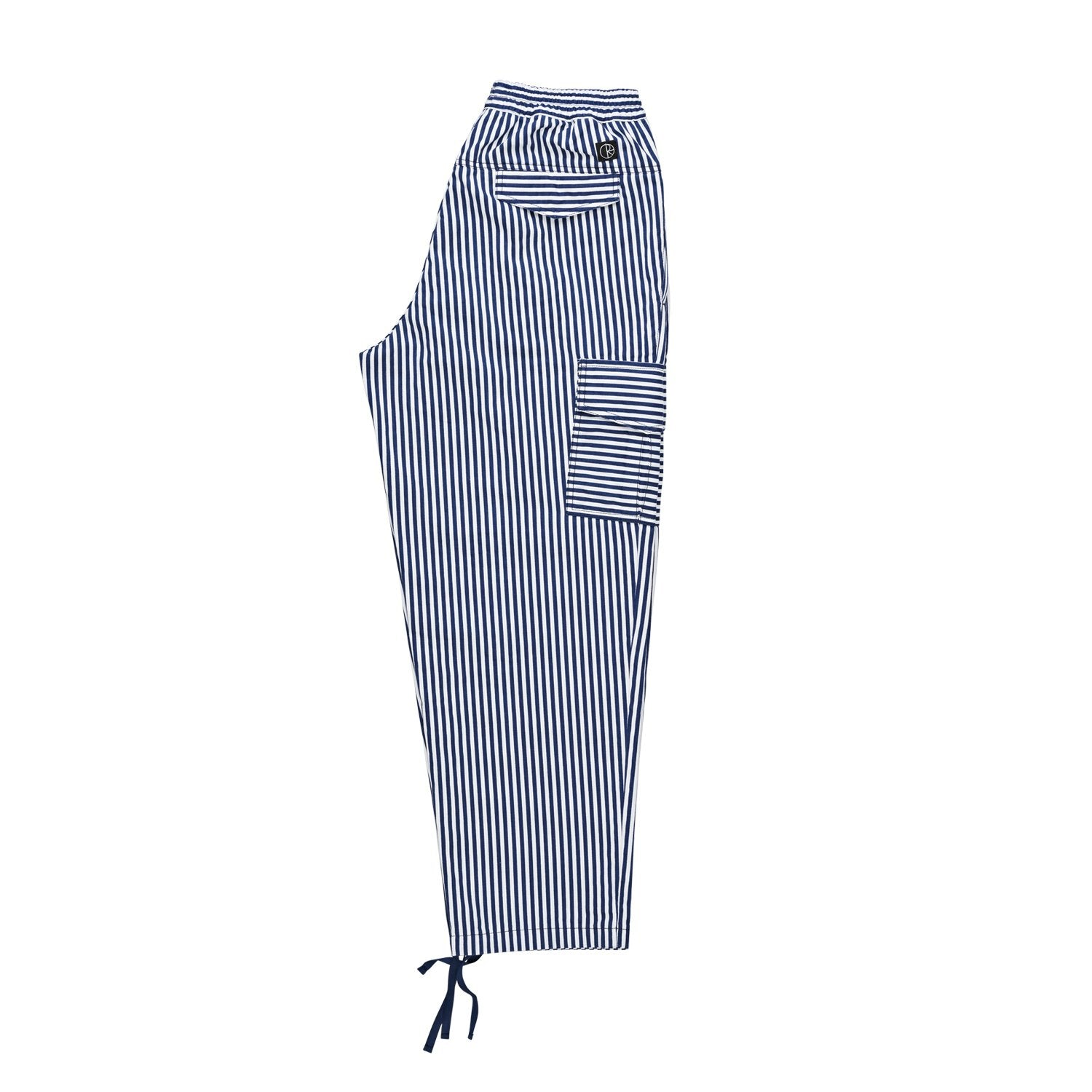 POLAR STRIPED CARGO PANTS - NAVY/WHITE